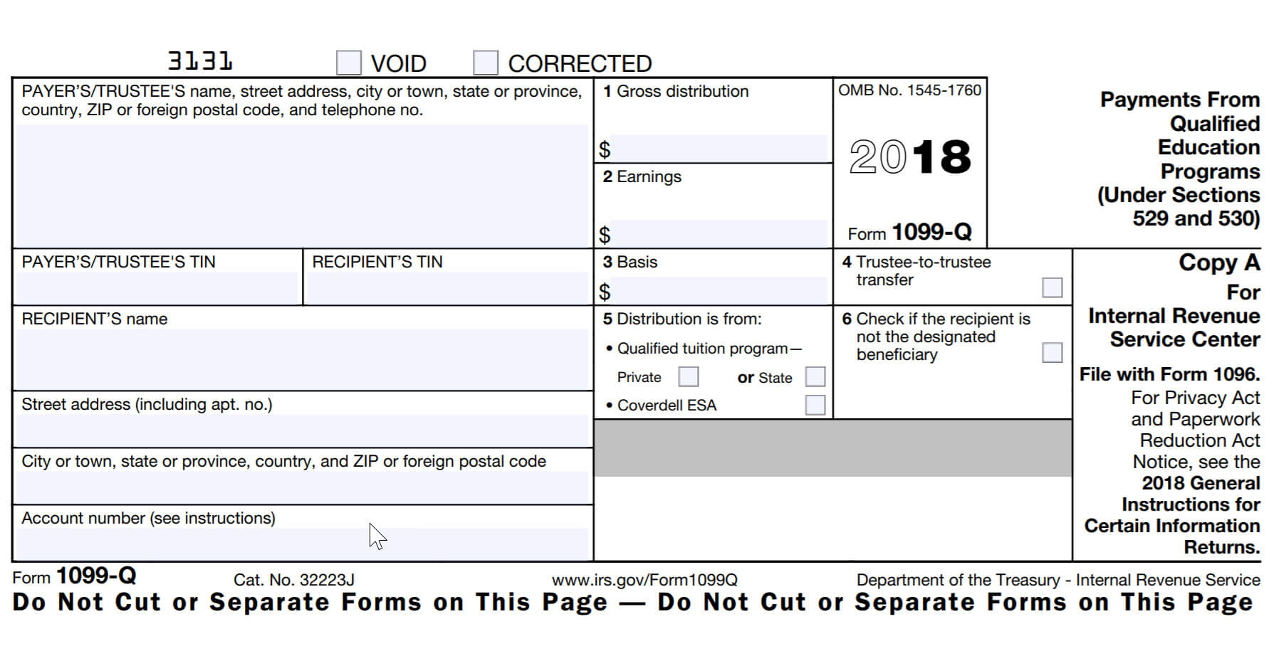 Printable 1099 Tax Form 2018