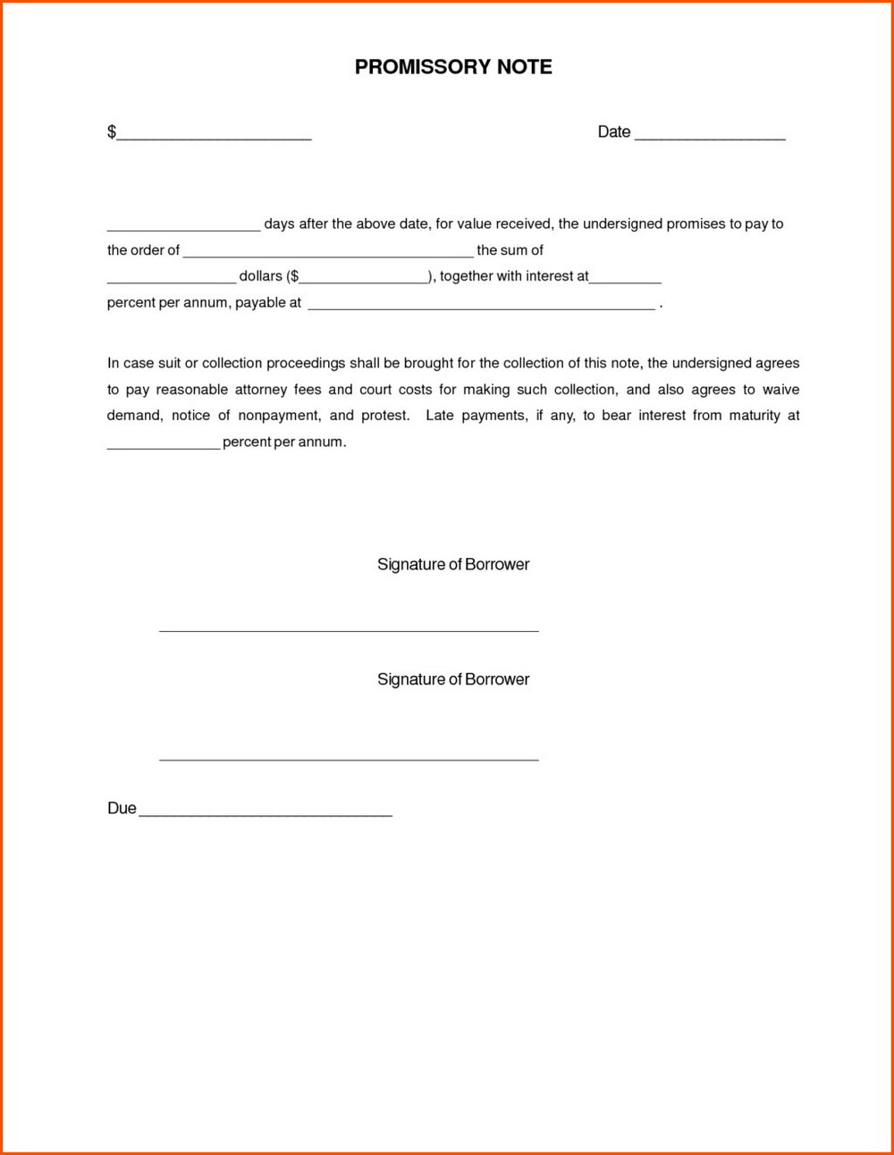 Promissory Note Format Philippines