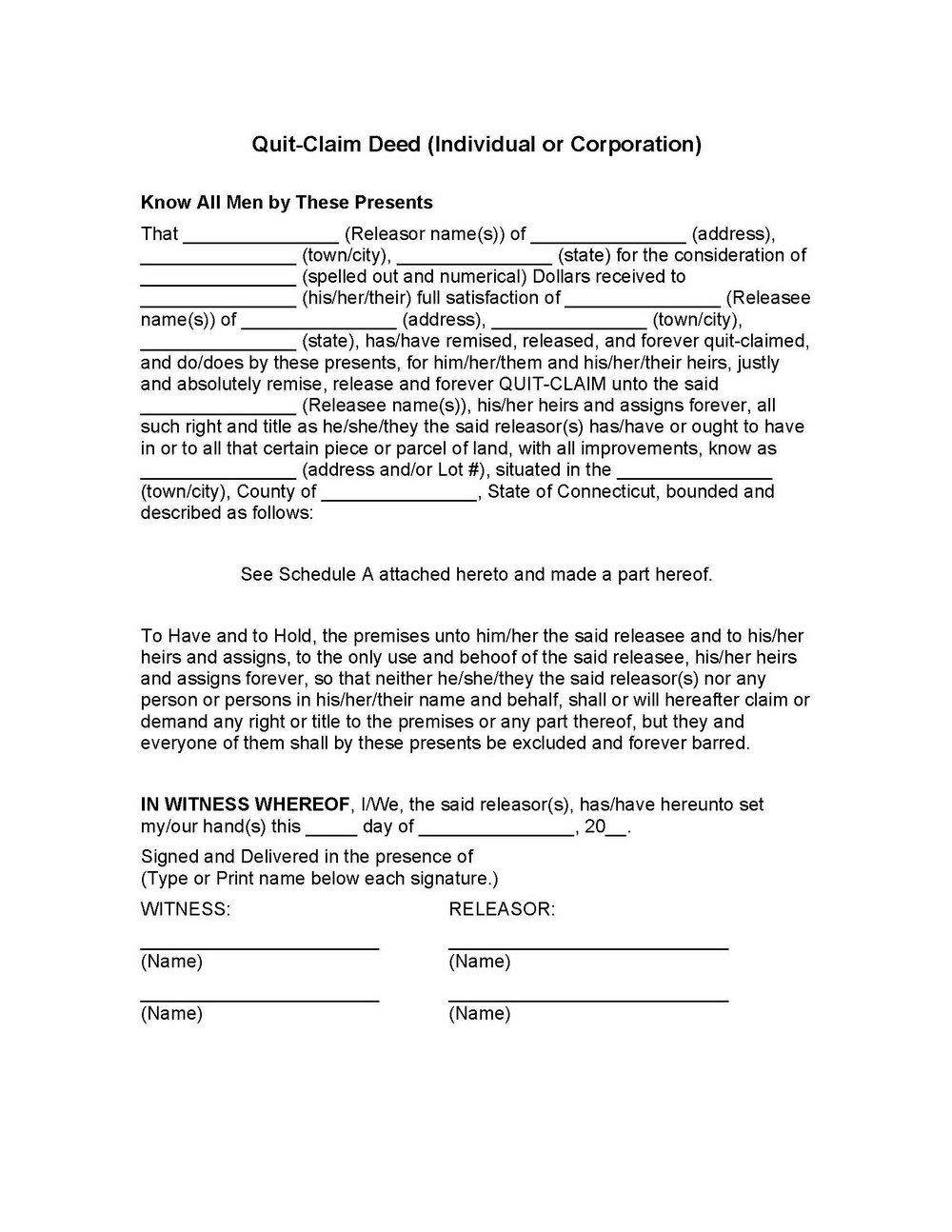 Quit Claim Deed Form Douglas County Georgia