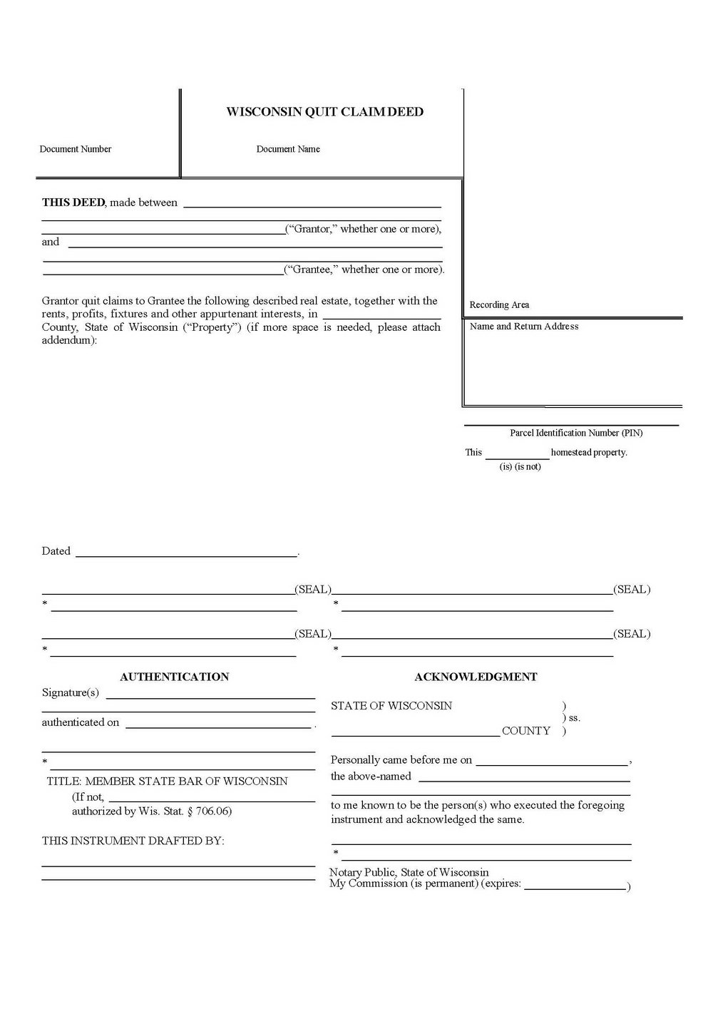 Quit Claim Deed Form Fulton County Georgia