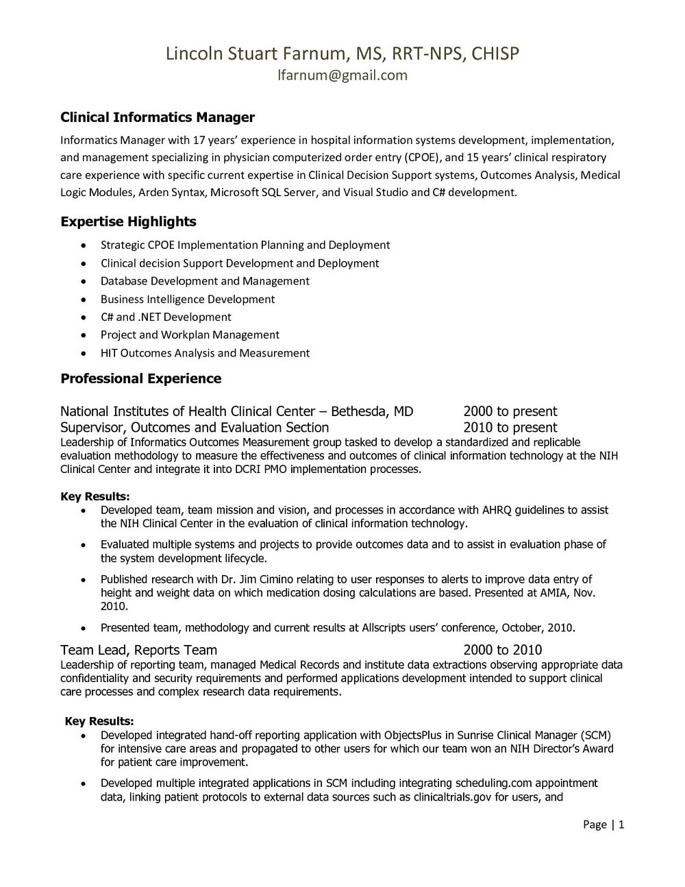 Respiratory Therapy Resume Examples