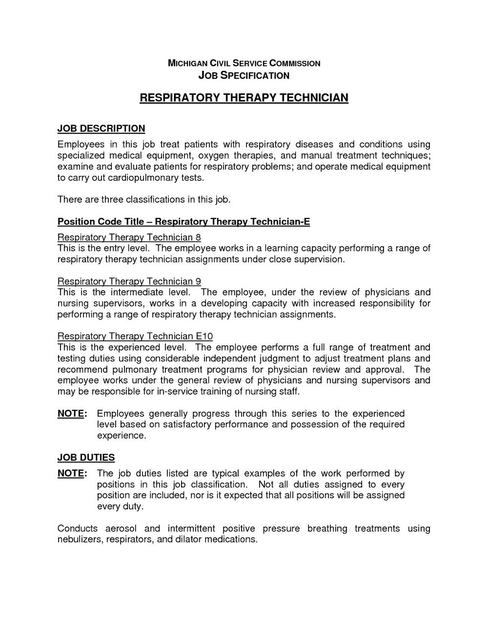 Respiratory Therapy Student Resume Template