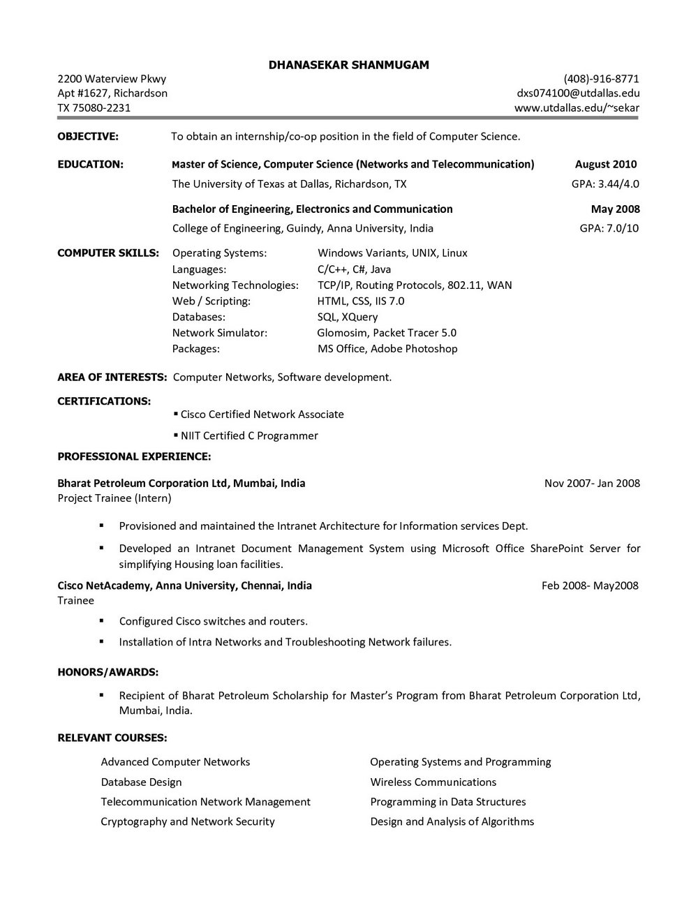 Resume Builder Template Free Download