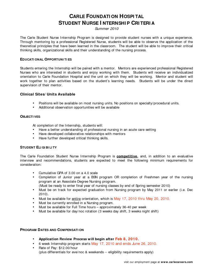 Resume For Nursing Management Position
