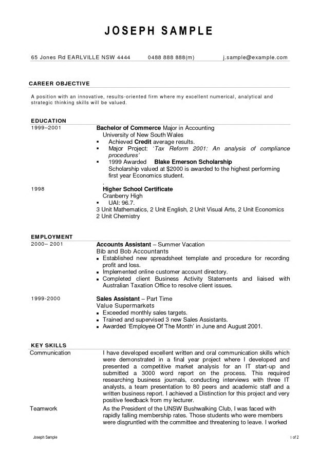 Resume Format For Experienced Accountant Free Download