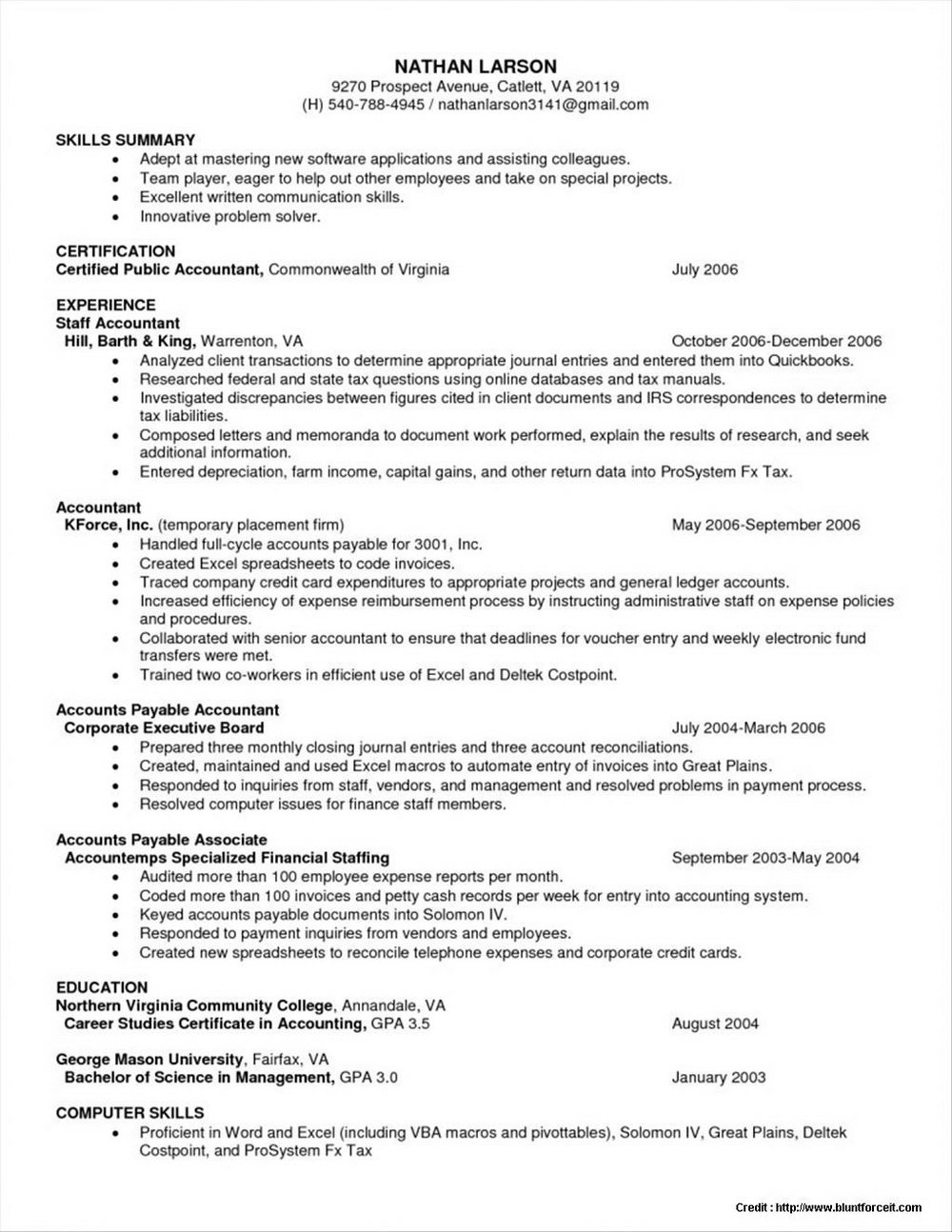 Resume Format Free Download Pdf