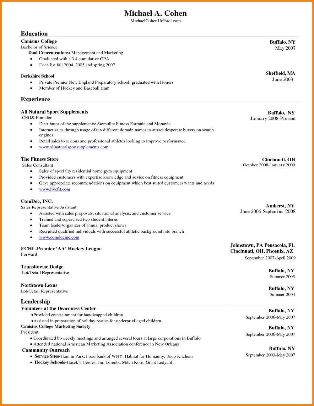 Resume Formatting Microsoft Word
