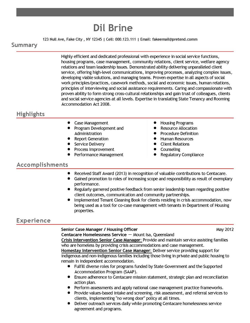 Resume Samples For Development Professionals