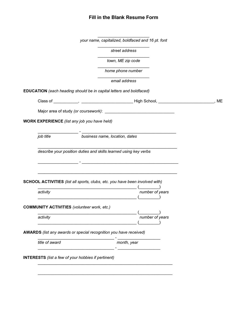 Resume Templates For Retail Jobs