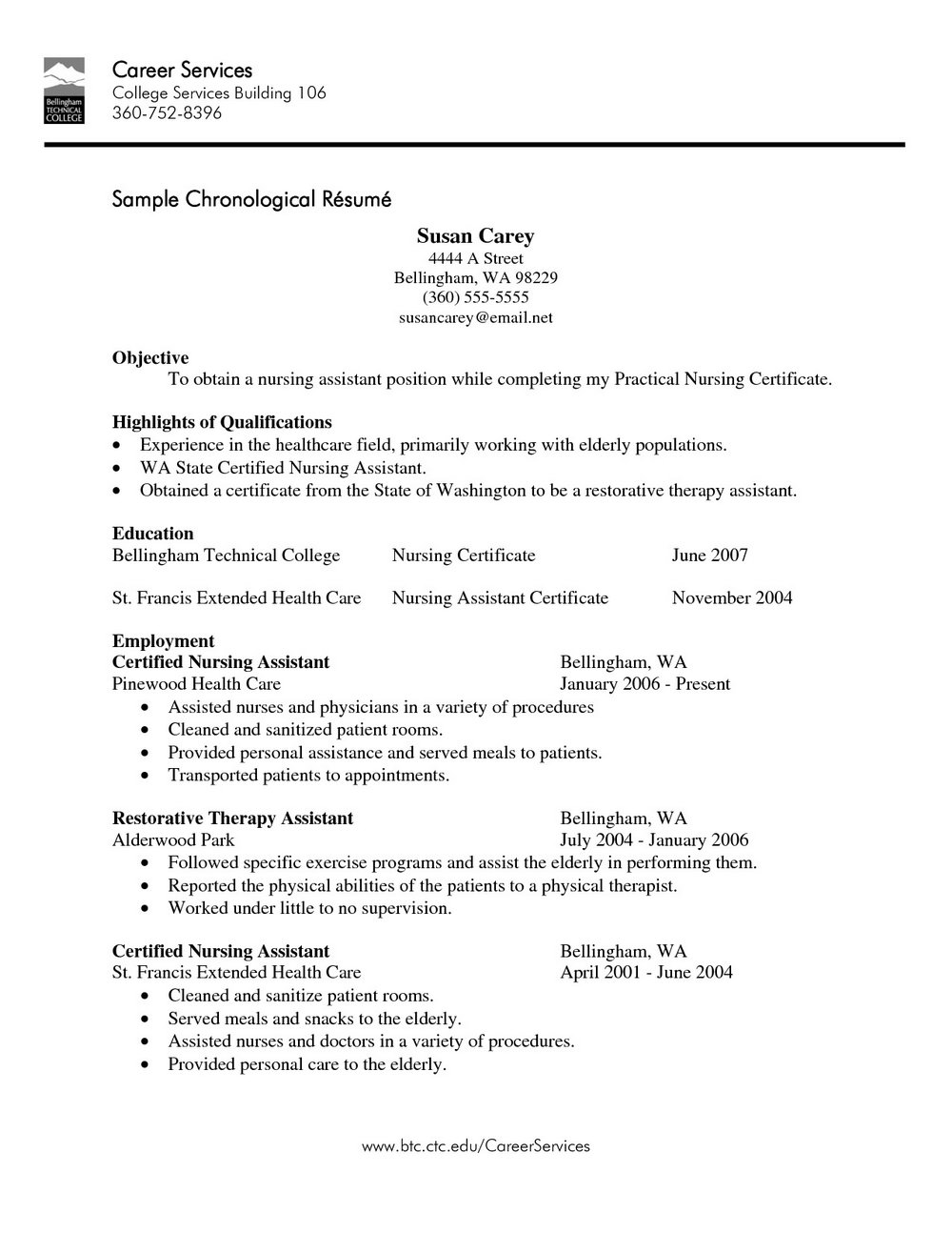 Sample Resume For Medical Assistant Job With No Experience