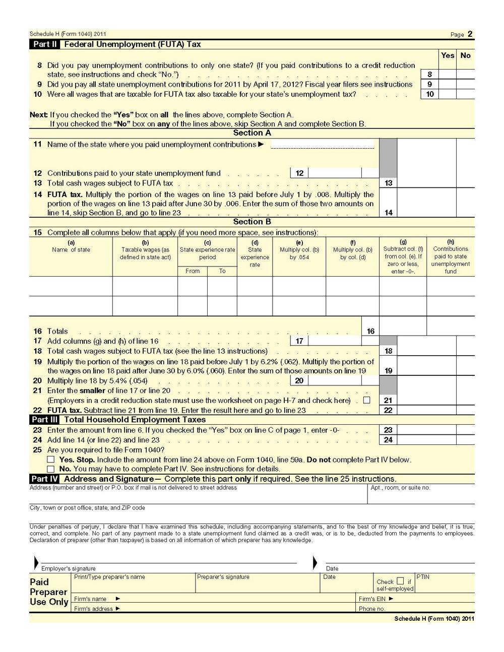 Tax Form 1040ez Line 11