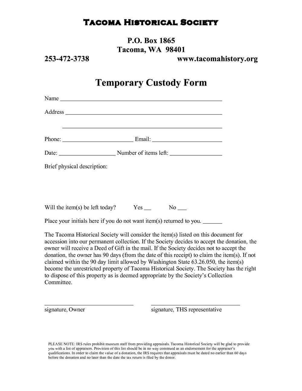 Temporary Guardianship Form Kansas