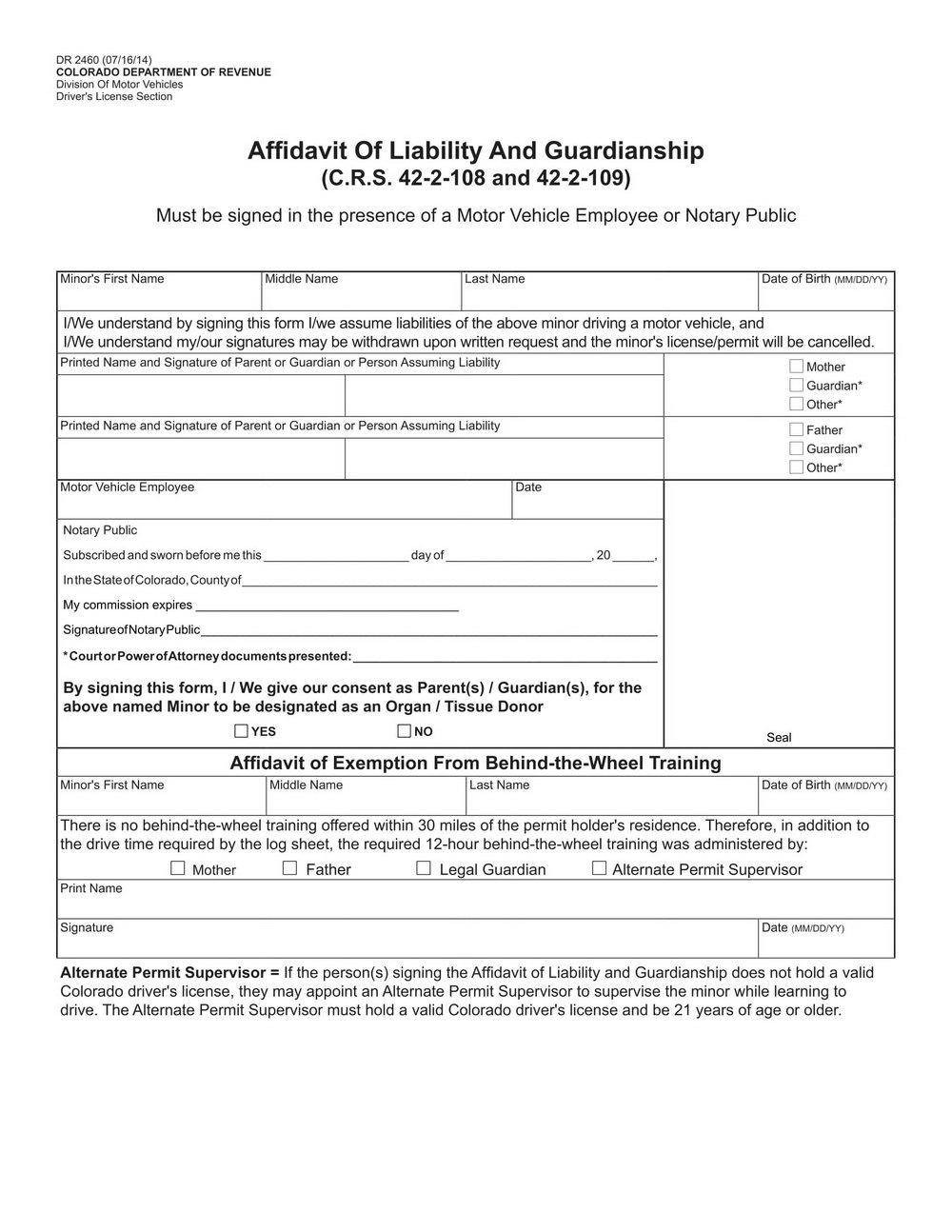 Temporary Guardianship Form Virginia