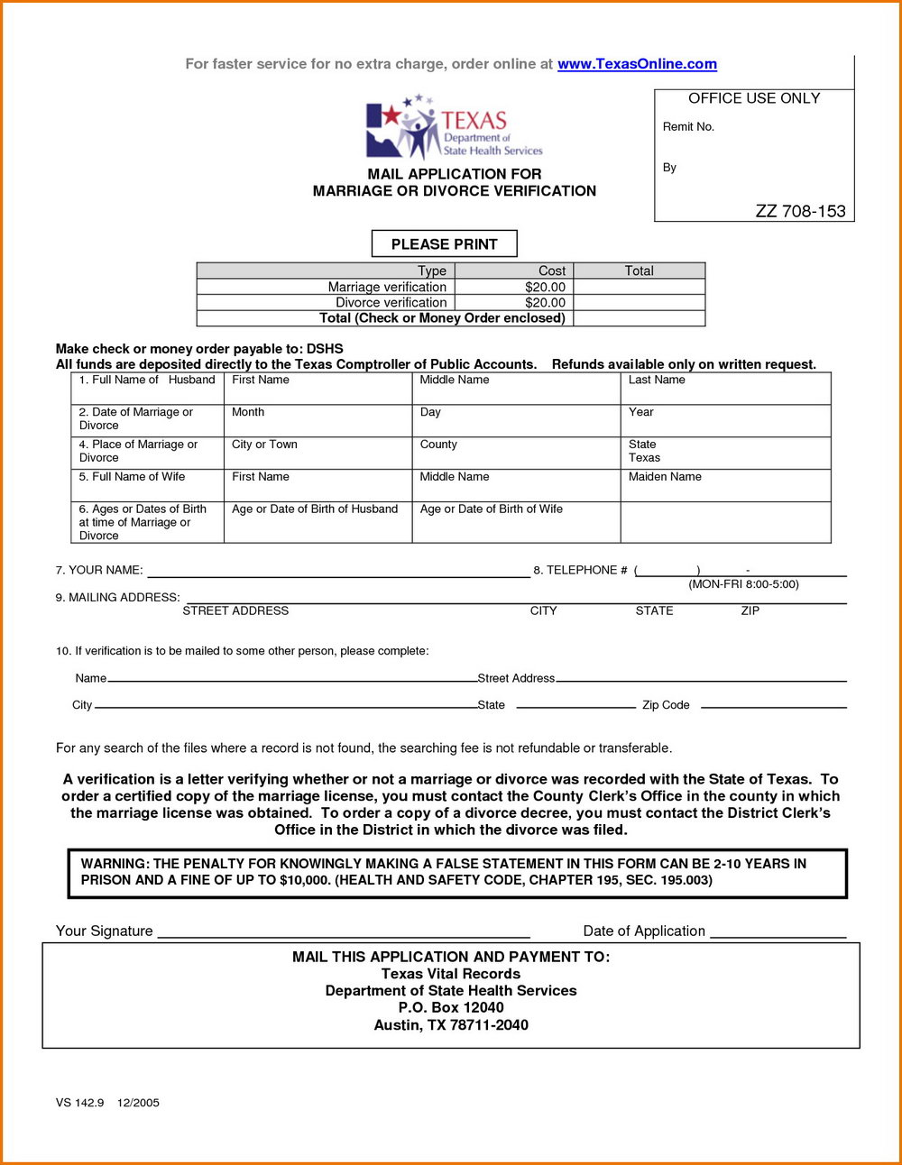 Texas Divorce Forms With Child Pdf