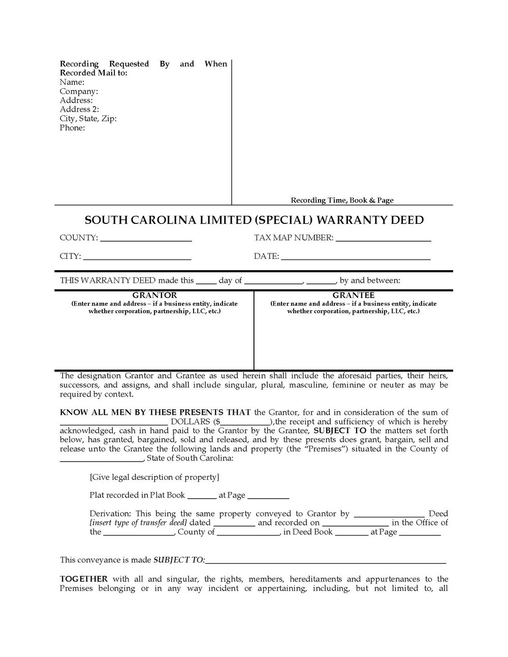 Warranty Deed Form California