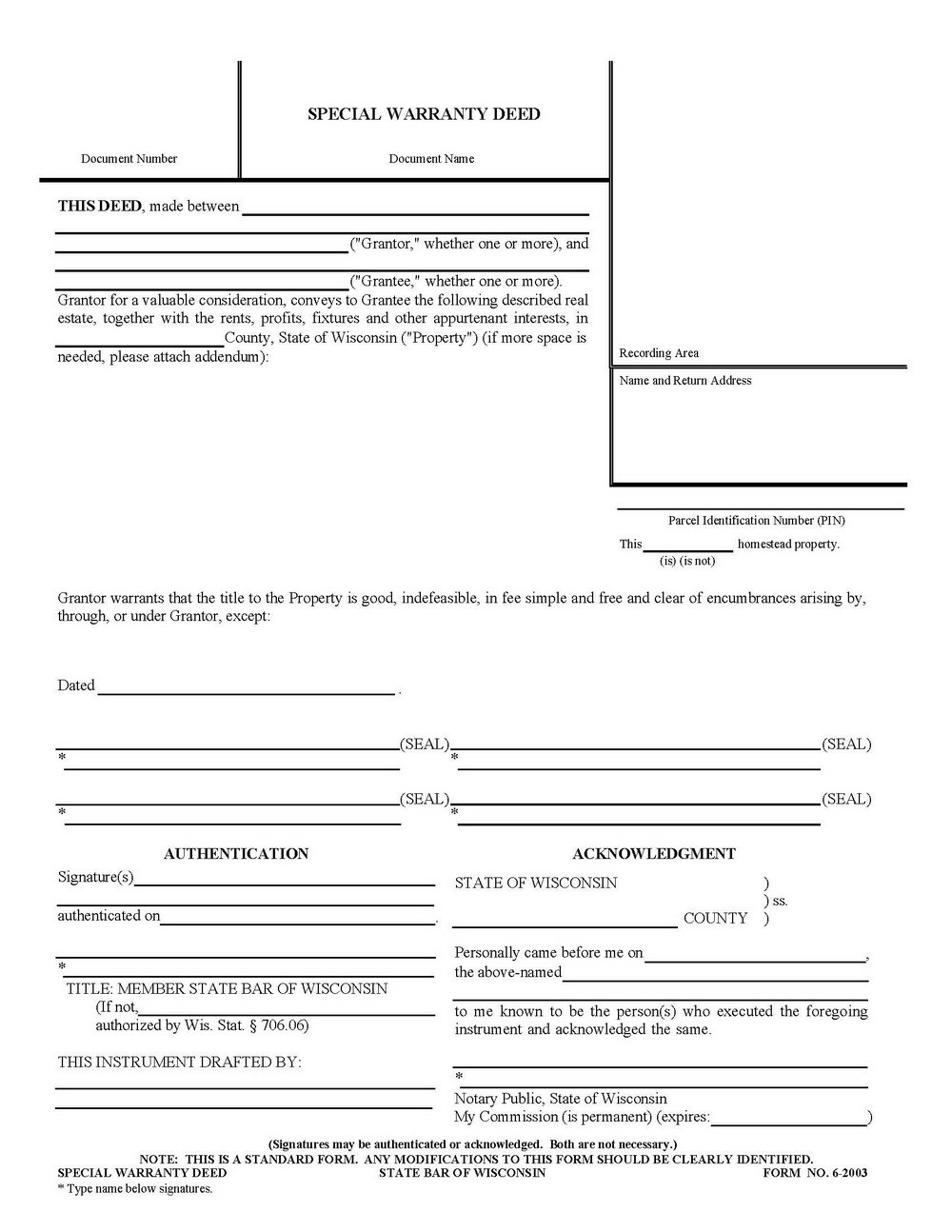 Warranty Deed Form Florida