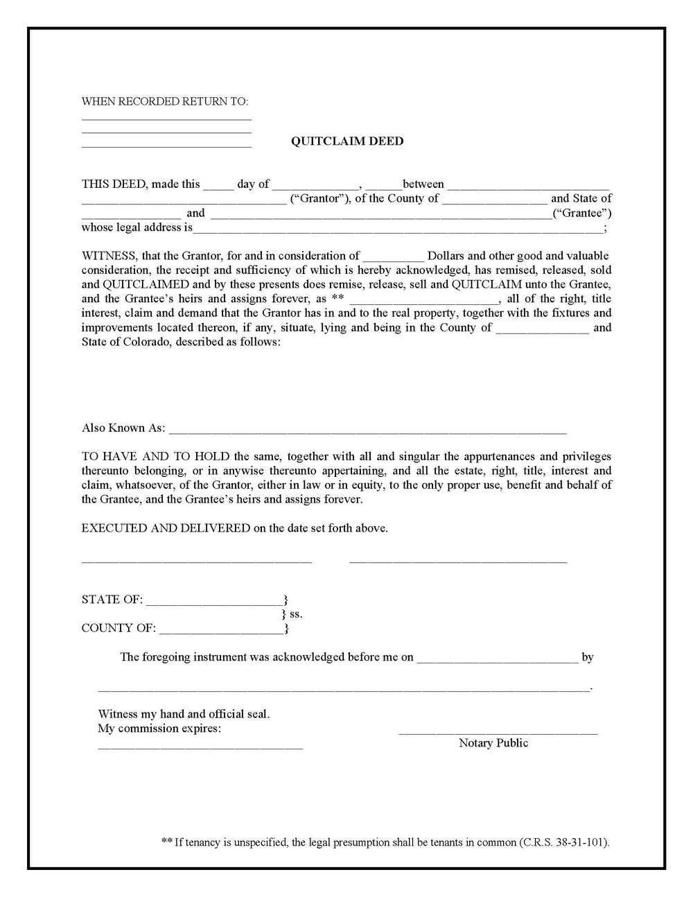 Warranty Deed Form Georgia