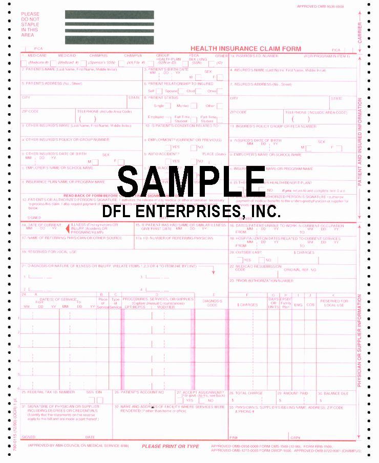 Cms 1500 Form Pdf Free