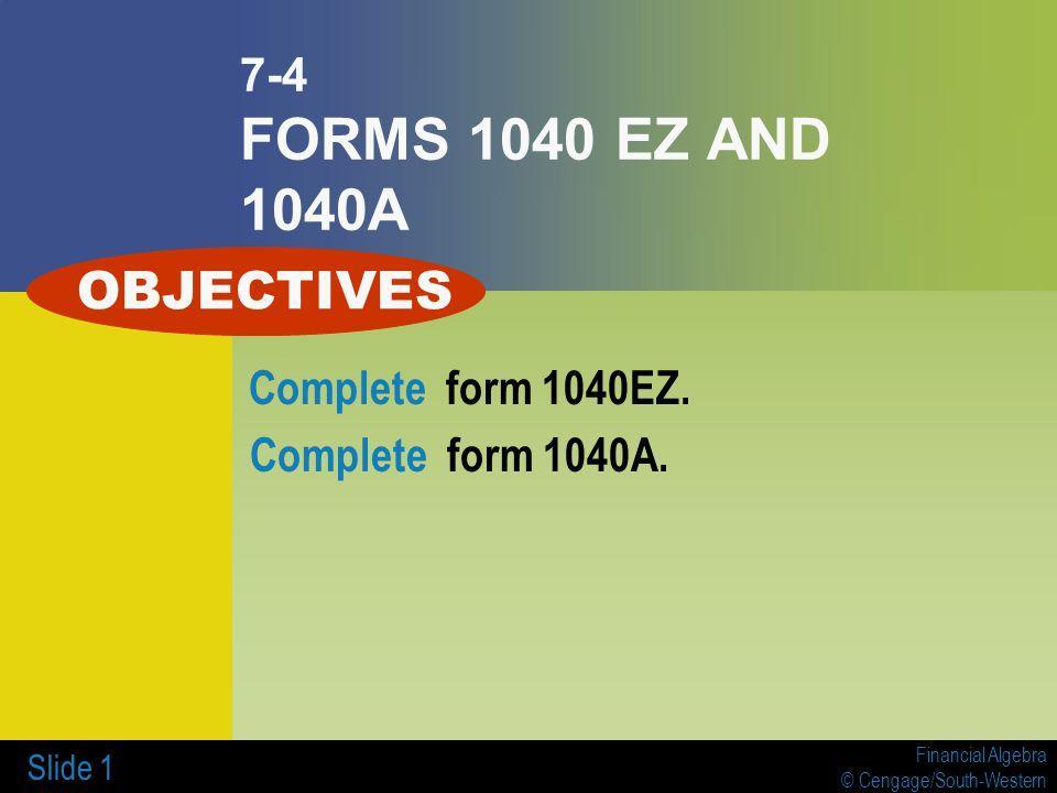 1040ez Form Online