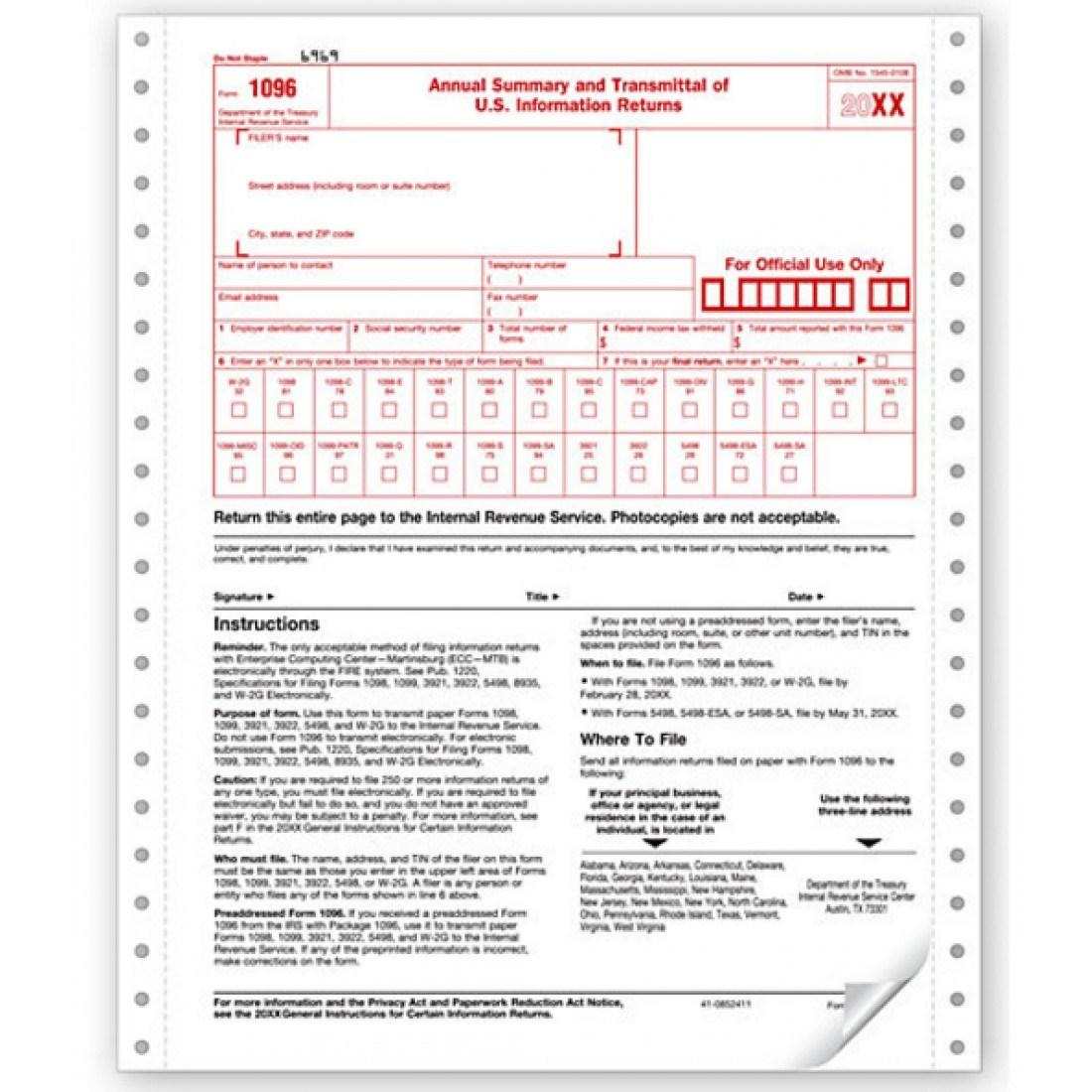 1096 Tax Form 2016
