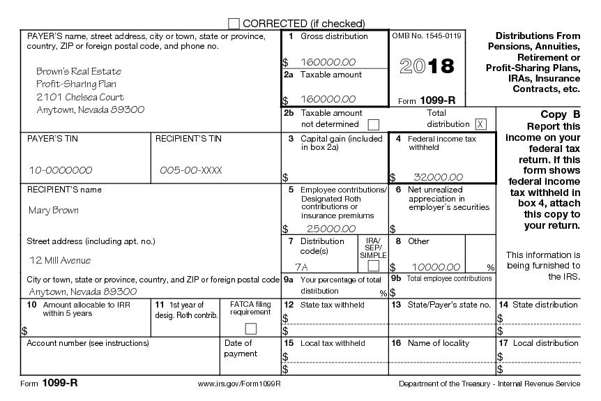 1099 Tax Form Real Estate