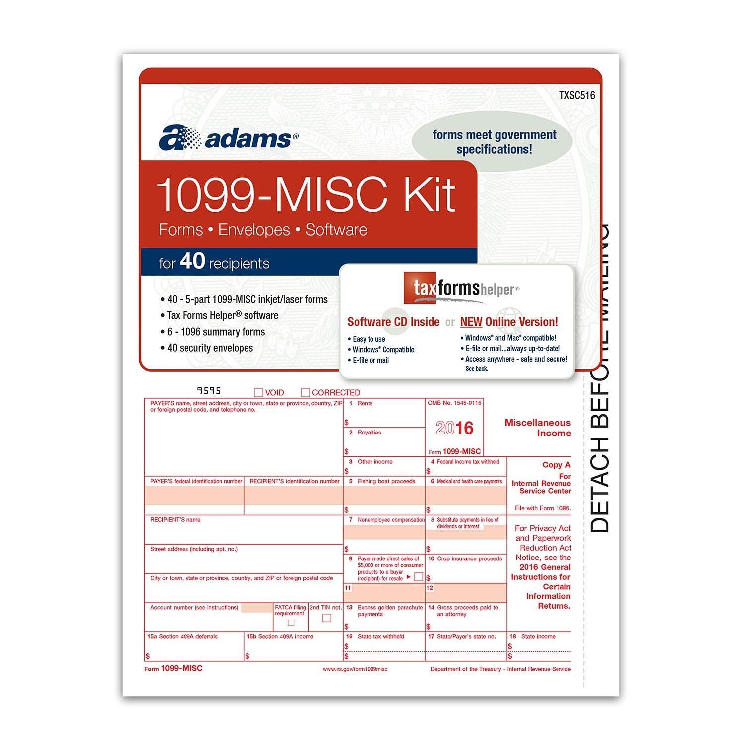 2016 Tax Forms 1099