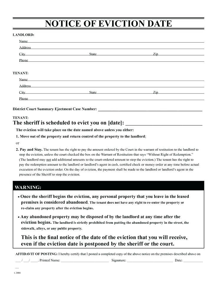 30 Day Eviction Notice Form Oregon