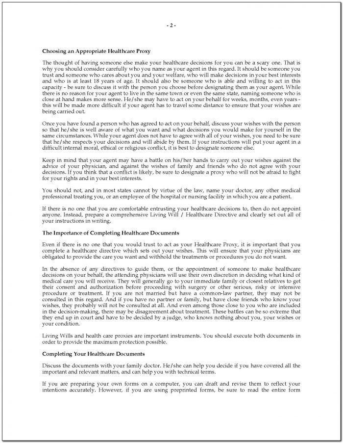 Advance Healthcare Directive Form Nevada