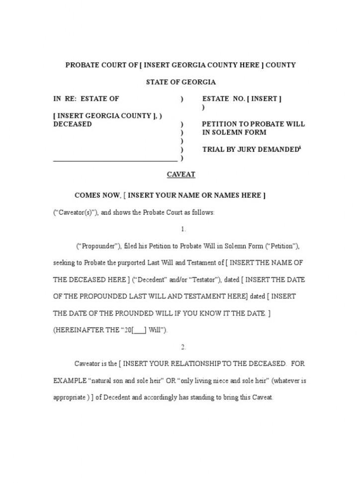 Affidavit Of Heirship Form Georgia