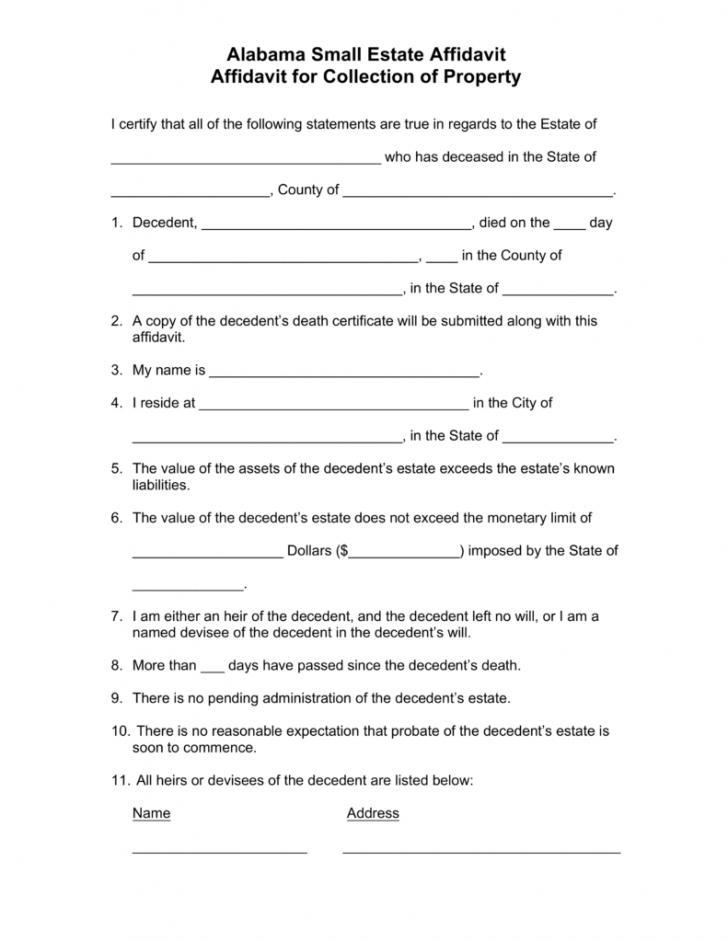 Affidavit Of Heirship Form New Mexico