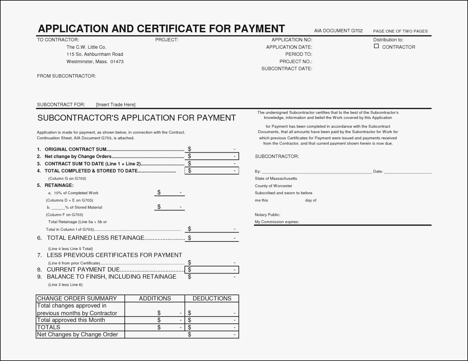 Aia Billing Form Example