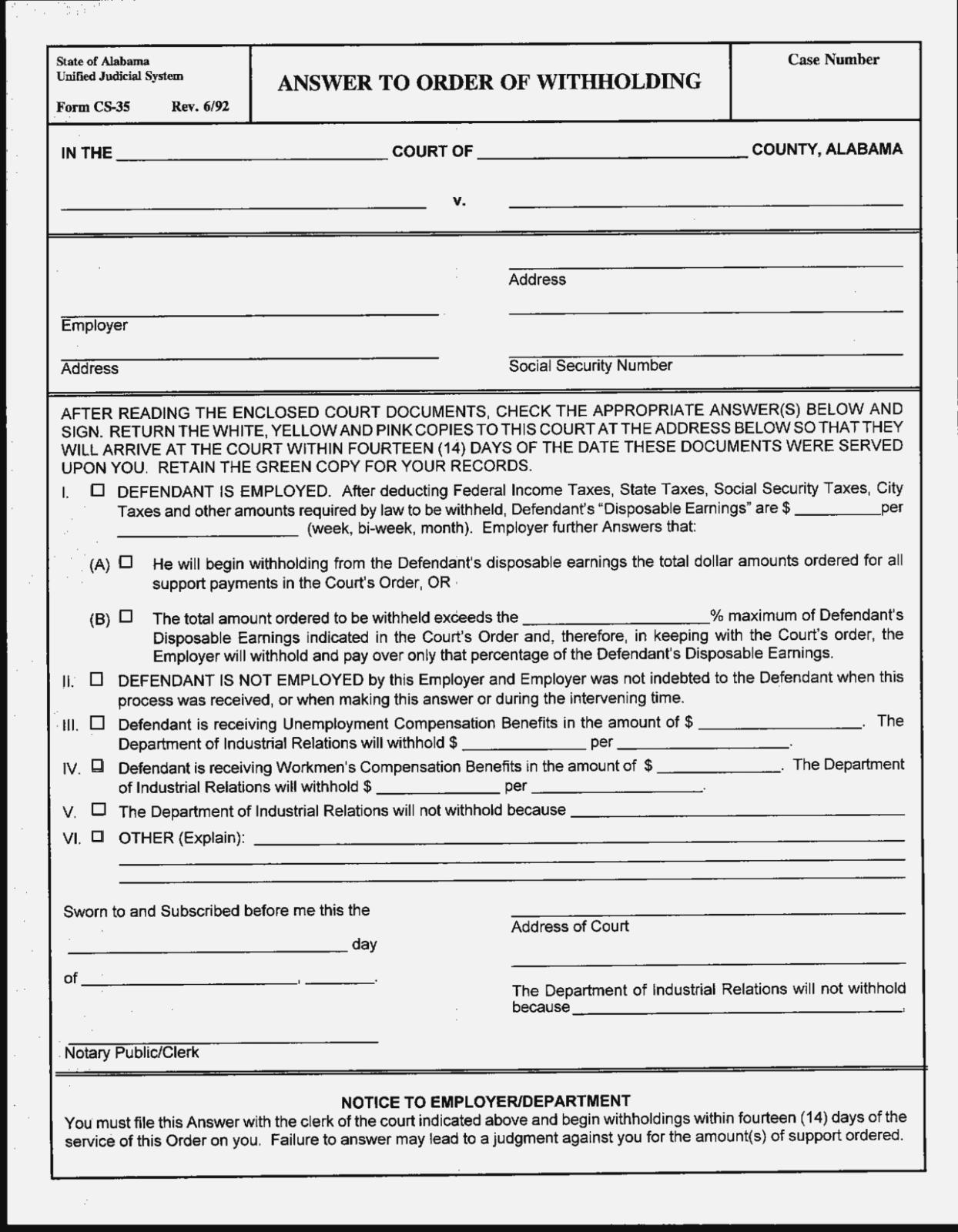 Alabama Divorce Filing Fee