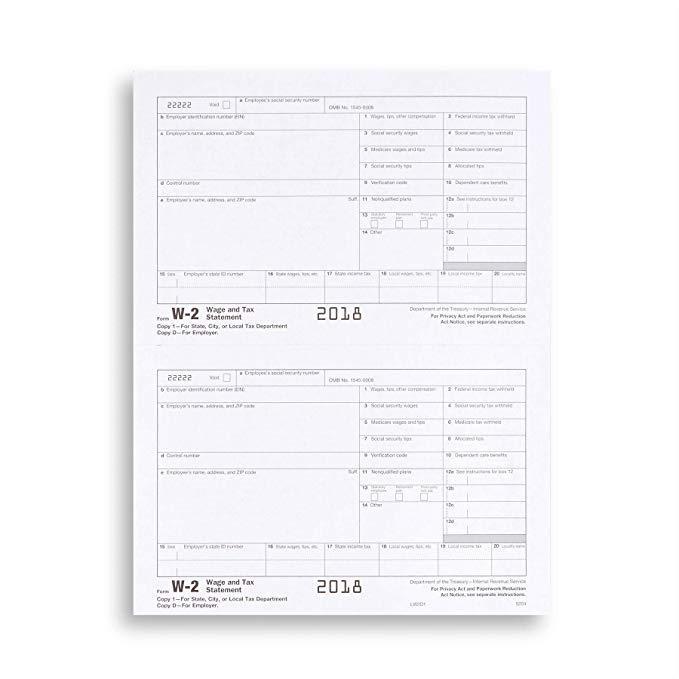 Amazon W2 Tax Forms