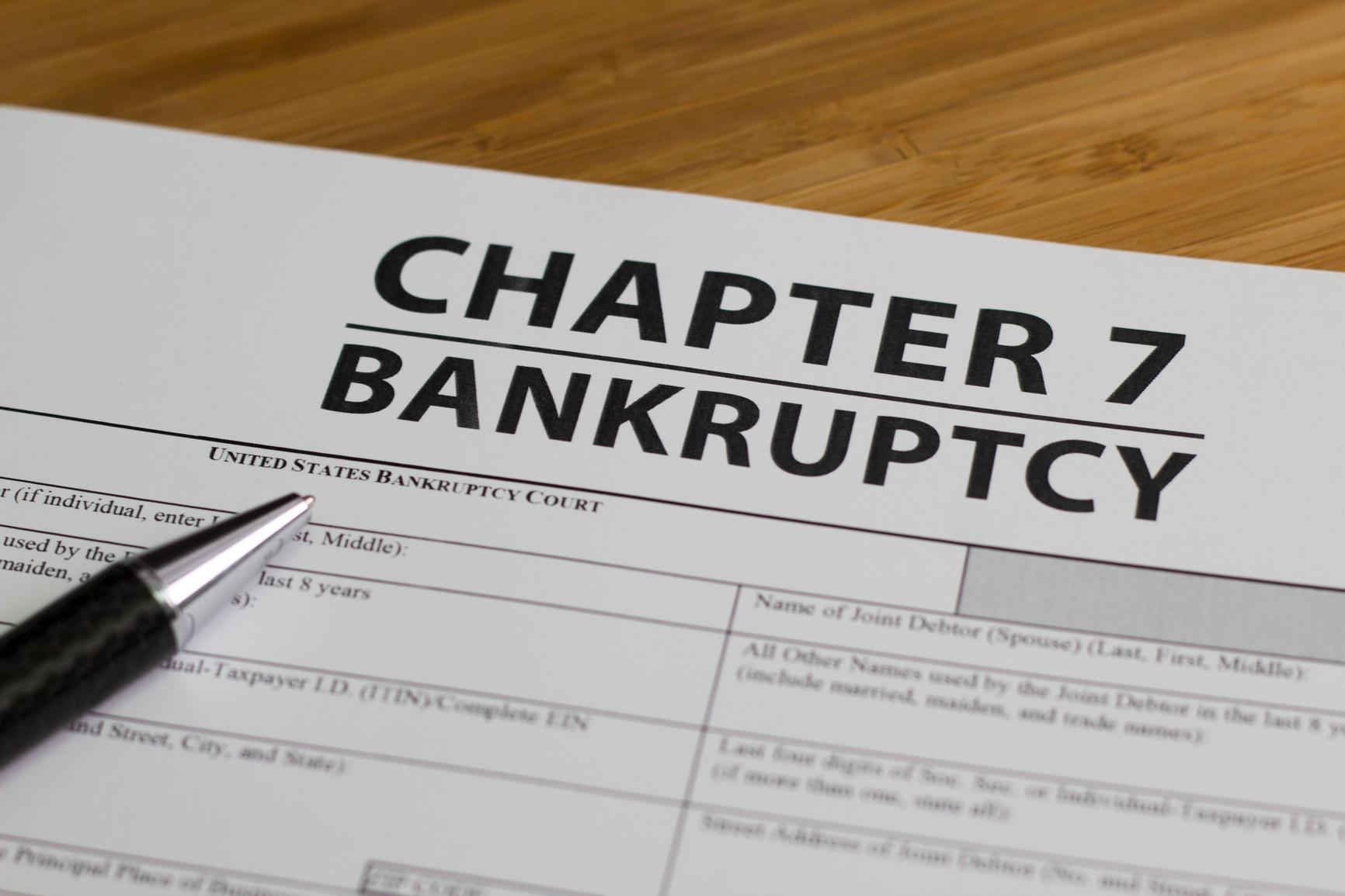 Bankruptcy Chapter 7 Filing