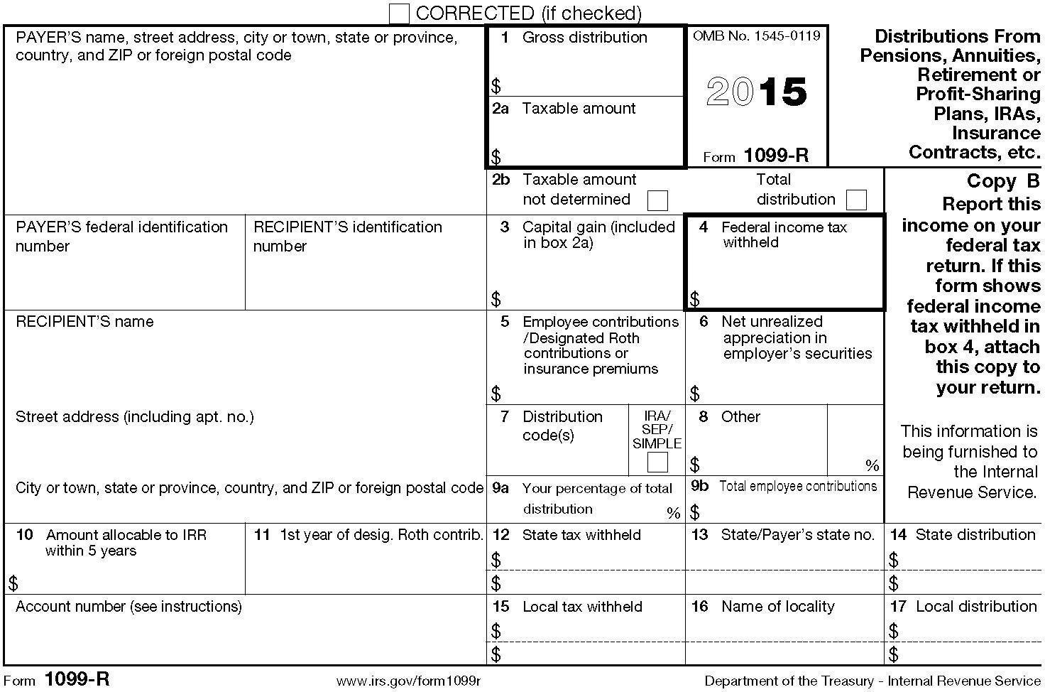 Blank 1099 Form 2015