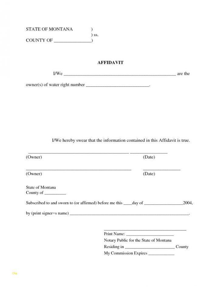 Blank Affidavit Form Pdf
