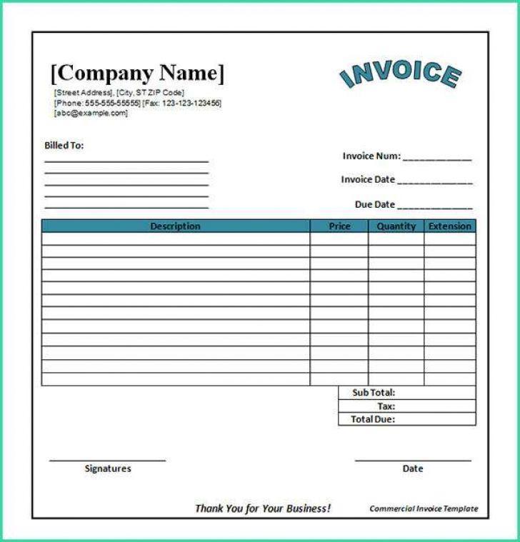 Blank Invoice Templates Pdf