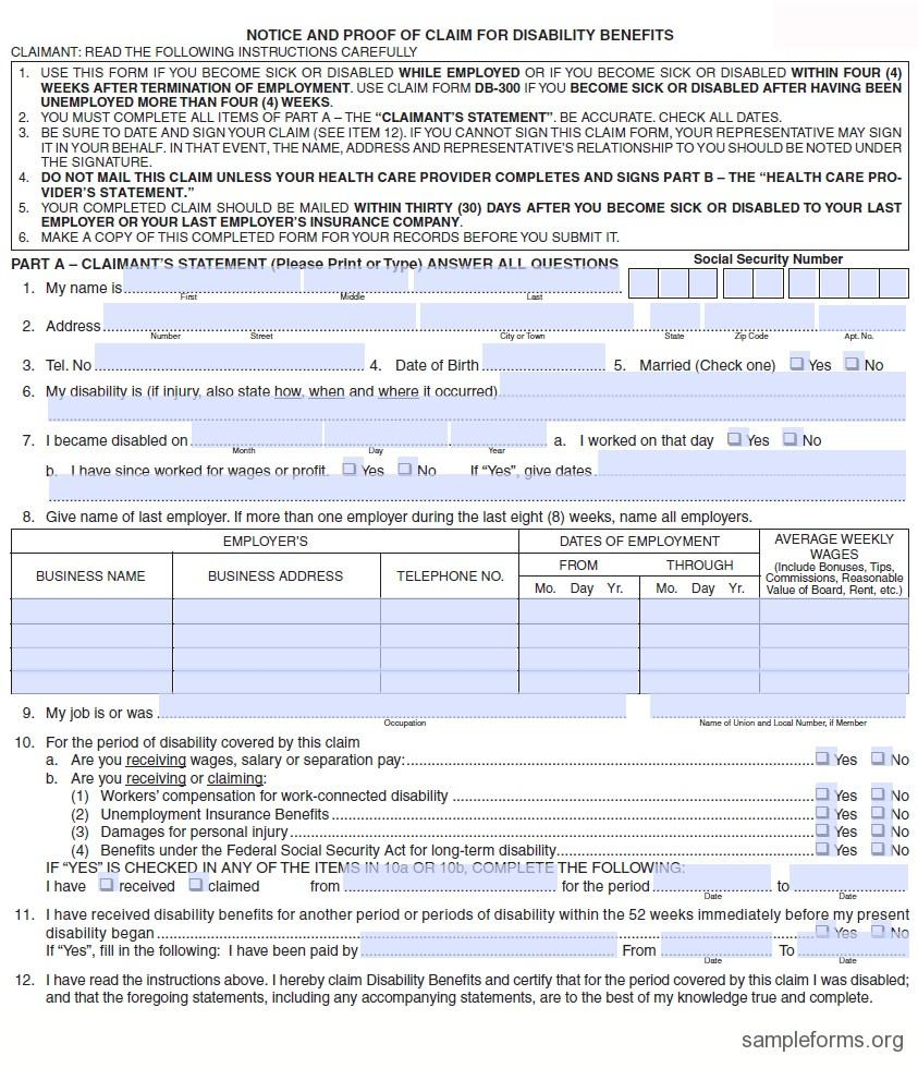 Ca Ssi Disability Forms