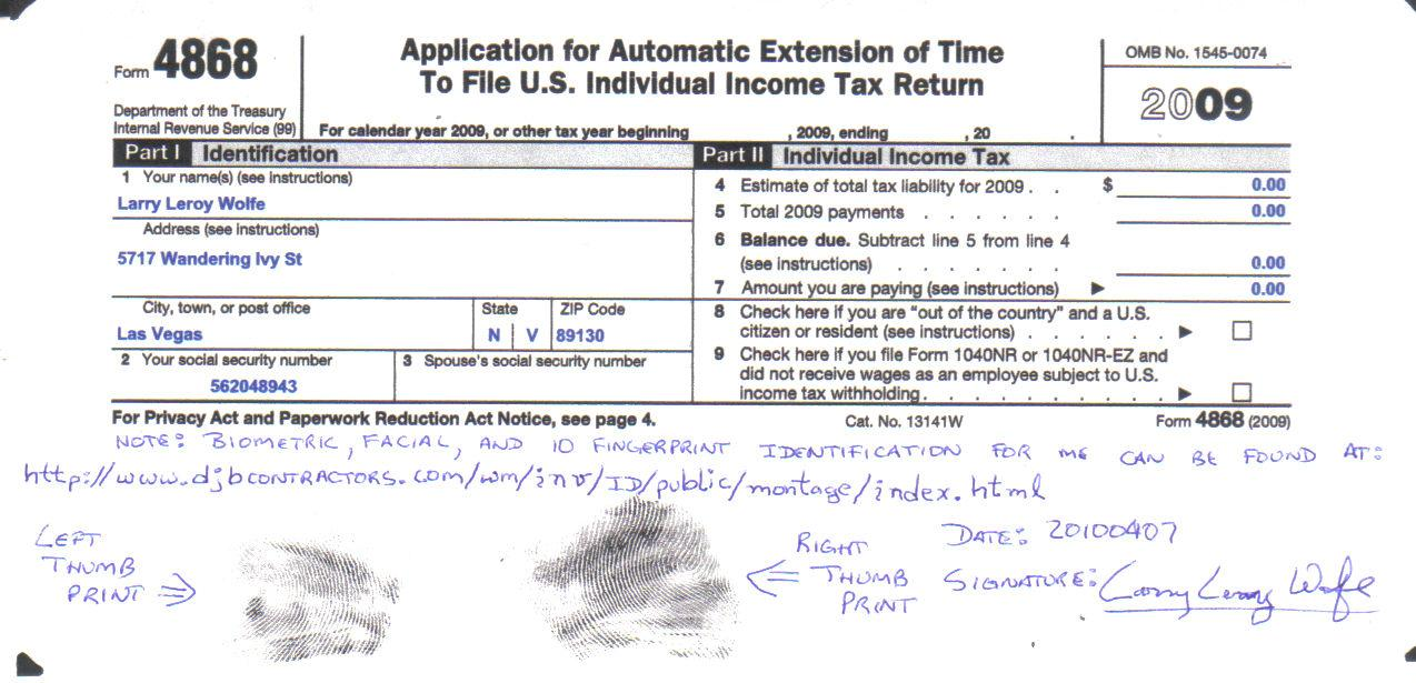 Can I File Form 4868 Online