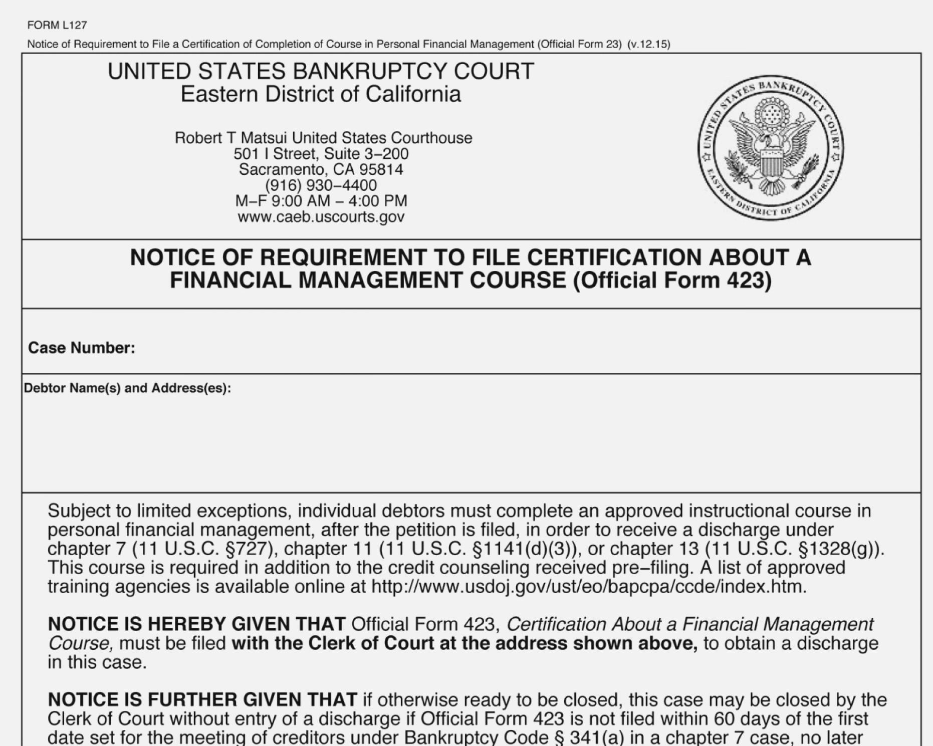 Chapter 13 Bankruptcy Forms Arizona