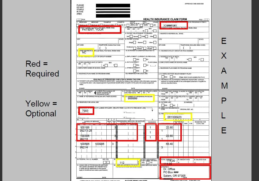 Cms 1500 Claim Form Instructions When Medicare Is Secondary