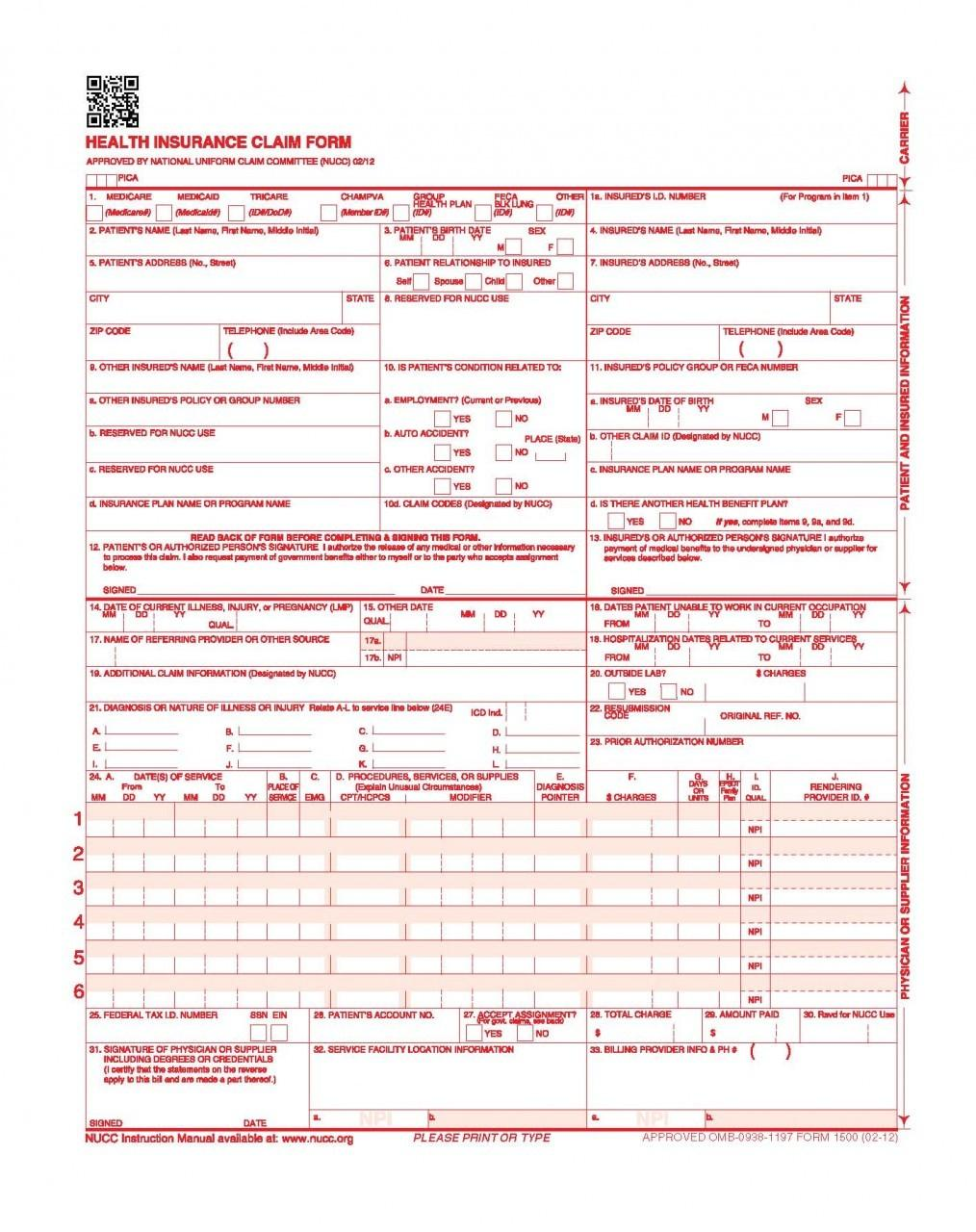 Cms Claim Form Requirements