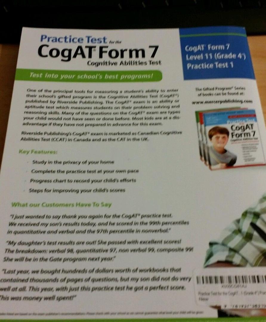 Cogat Form 7 Level 11