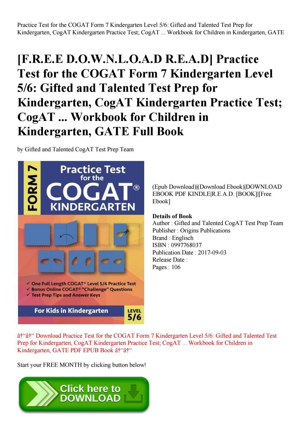 Cogat Form 7 Level 7