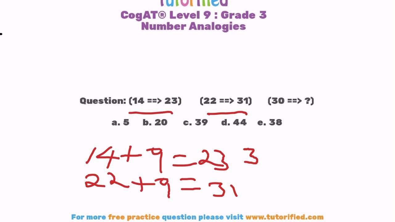 Cogat Form 7 Level 9