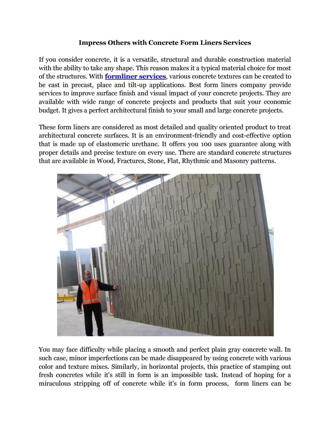 Custom Concrete Form Liners