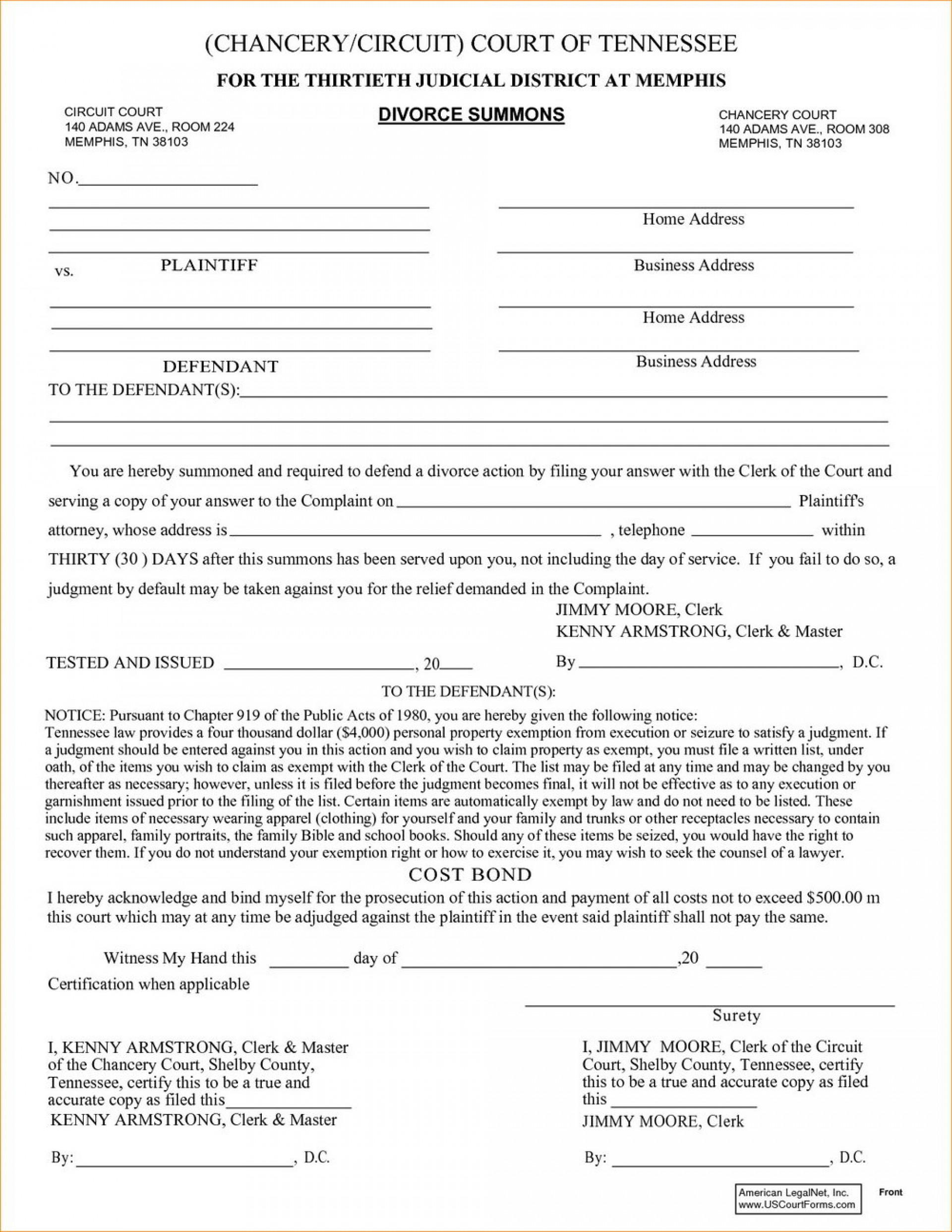 Davidson County Nc Divorce Forms