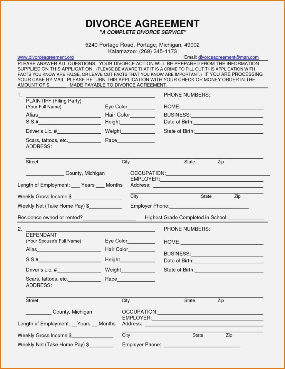 Divorce Petition Forms Texas
