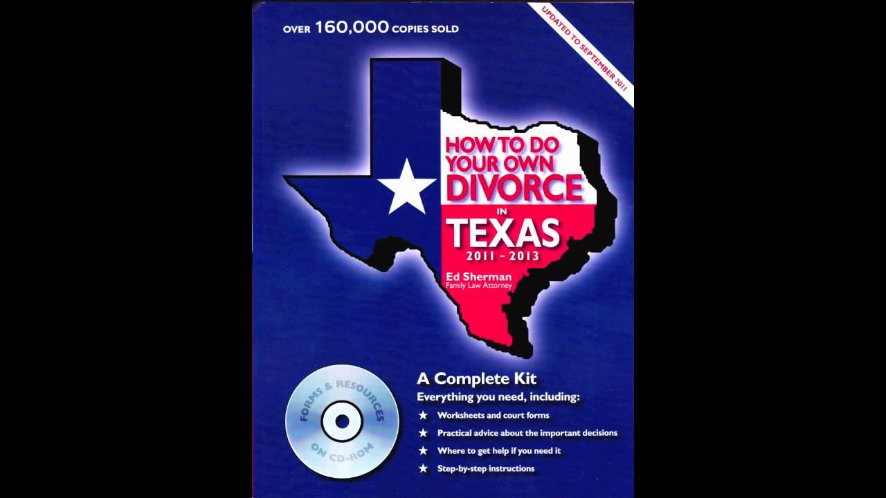 Do Your Own Divorce In Texas Forms