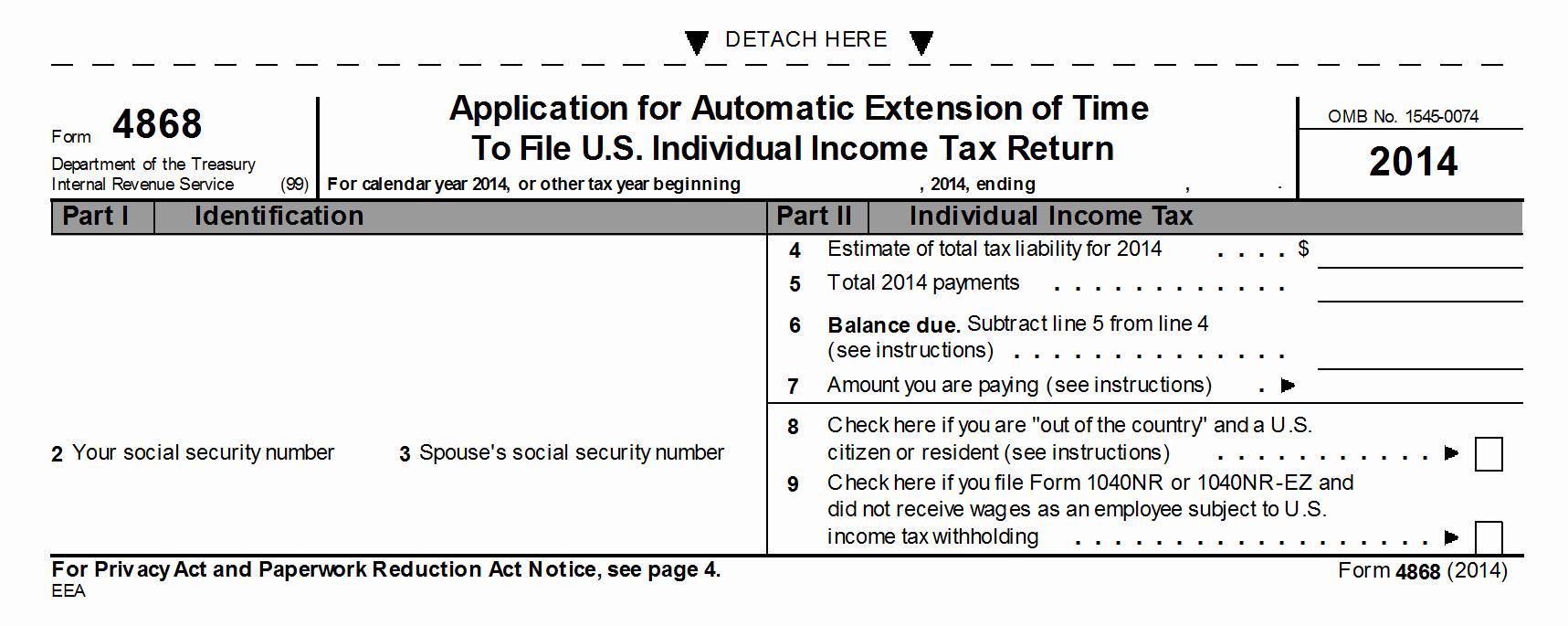 E File Form 4868 Free